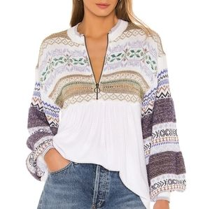 NWT Free People Cozy Cottage Sweater